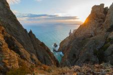 Скалы Лев, Золотые Ворота и Иван Разбойник на Карадагском природном заповеднике