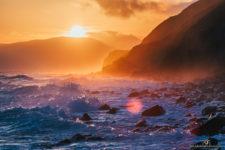 Пейзажная фотография шторма в бухте, не далеко от Феодосии на закате