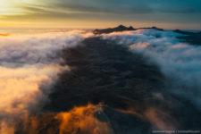 Крым, рассвет туман