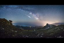 Фото метеорит, Крым, Демерджи, Алушка, Млечный путь, космос, обсерватория