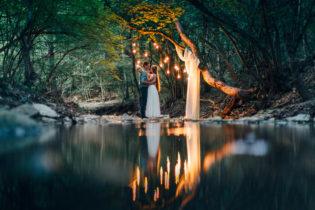 фотосессия у реки вечером, свадьба в Крыму