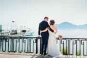 Свадебная фотосессия и видео съемка на берегу моря, на фоне яхты и горы Кара-Даг