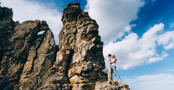 Фотосессия в Коктебеле на скалах