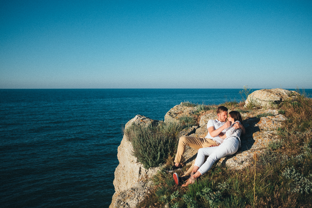 свадебные фото у моря и на природе