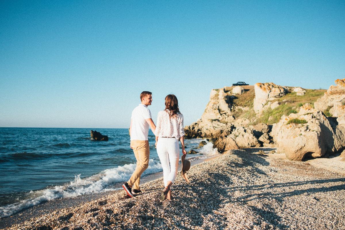 фотосессия на красивом пляже Крыма