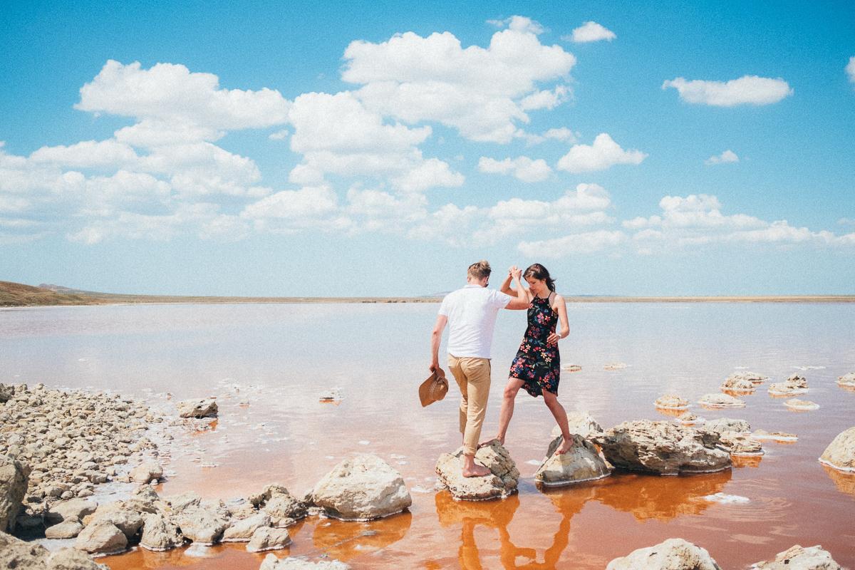Путешествие на розовое озеро в Крыму